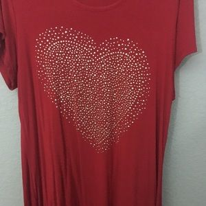 Red Nouvelle Collection Heart Shirt